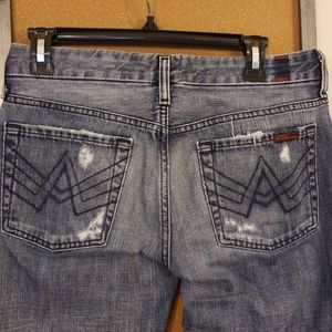7 for All Mankind Size 27 A Pocket Distressed Jean